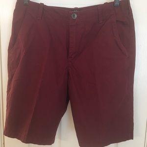 "EXPRESS Men's 31"" Shorts Classic Flat Front Maroon"